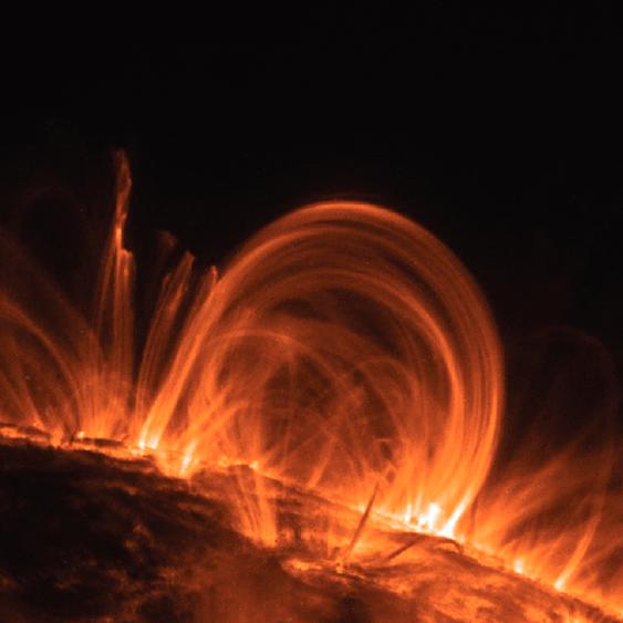 TRACE image of the solar corona